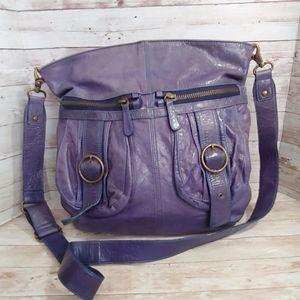 Anthro Tano purple hobo crossbody handbag